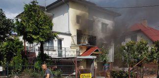 Wybuch gazu przy ul. Kasztanowej w Białymstoku, fot. Maciej Szklarowicz